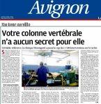Article chirurgie de la colonne vertébrale La Provence Octobre 2016