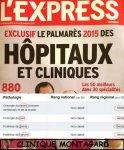 Classement de la clinique Montagard dans l'Express Novembre 2014
